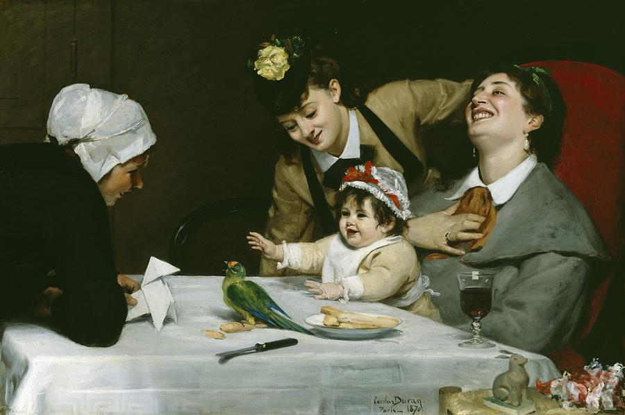 Interior Painting - Merrymakers by Charles Emile Auguste Carolus-Duran