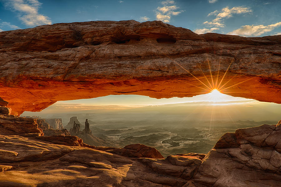 Mesa Arch Dawn Sunburst Photograph by Bobbushphoto