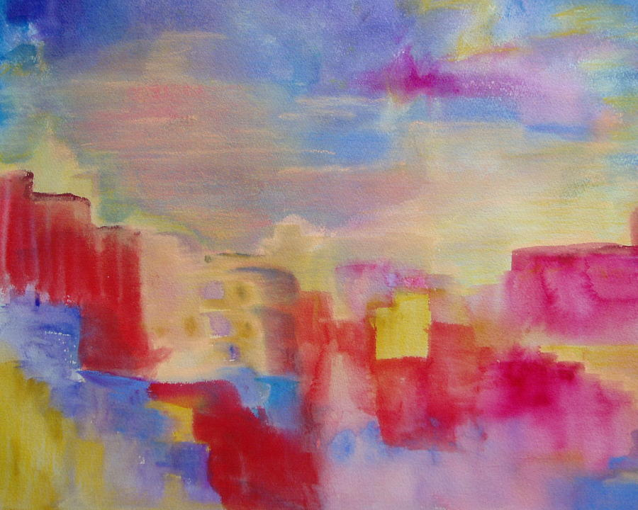 Watercolor Painting - Mesa by Phoenix Simpson