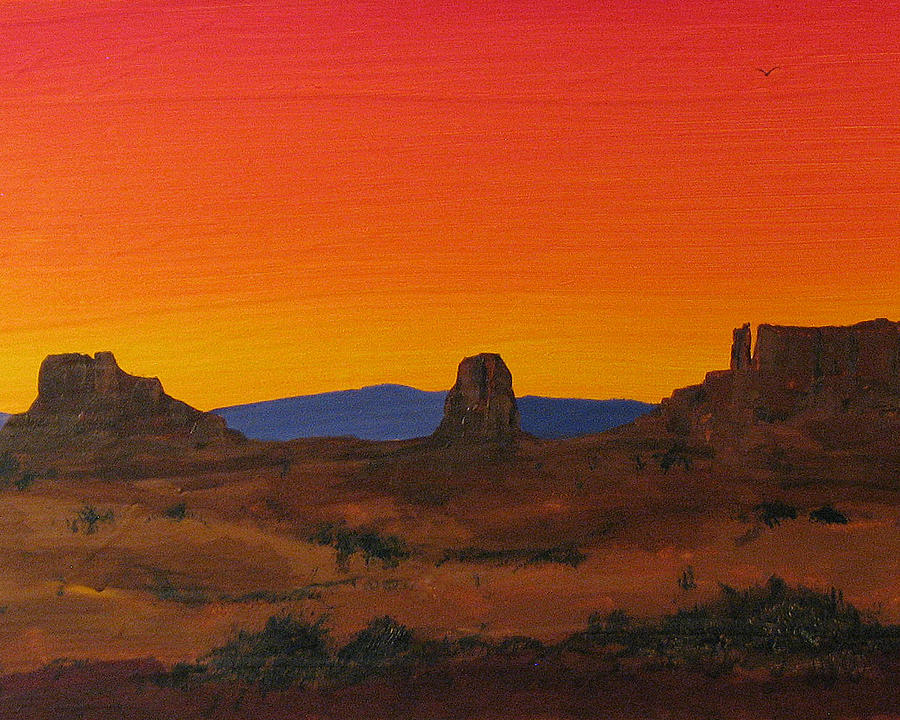 Landscape  Painting - Mesa Sunset by Carl Bandy
