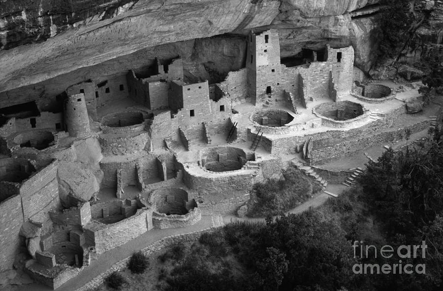 Mesa Verde Photograph - Mesa Verde Monochrome by Bob Christopher