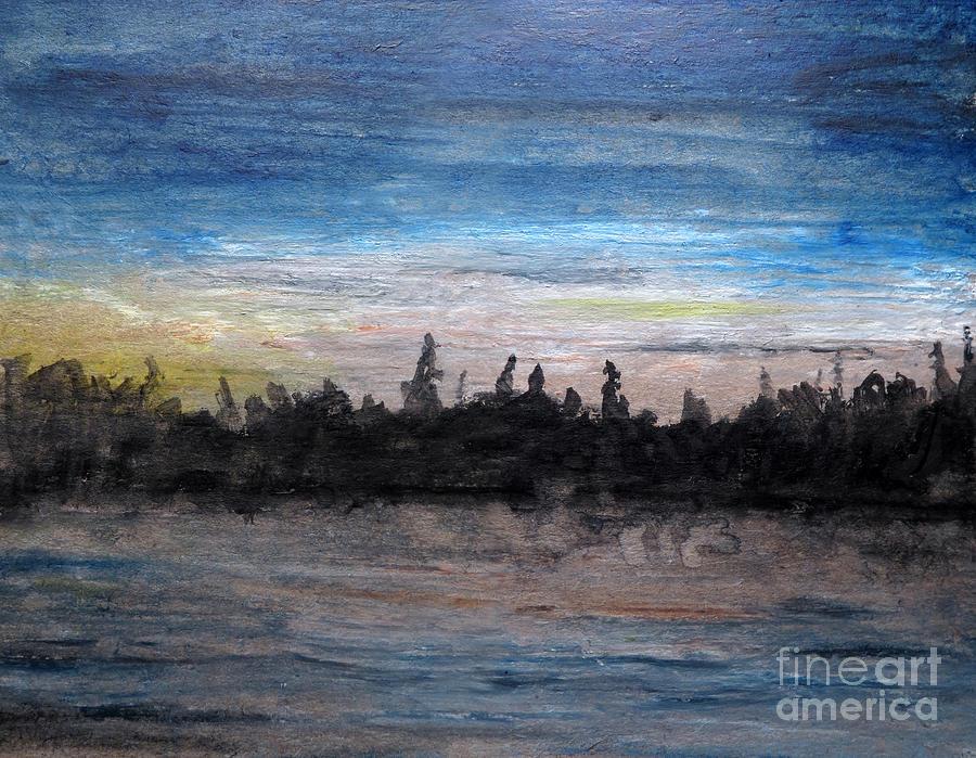 Mesmerizing Dusk Painting by R Kyllo