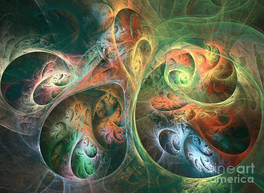 Abstract Digital Art - Meson by Kim Sy Ok