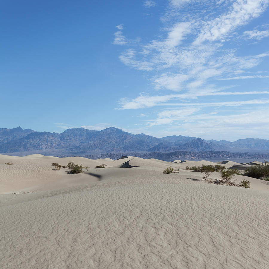 Mesquite Flat Sand Dunes, Death Valley Photograph by Tuan Tran