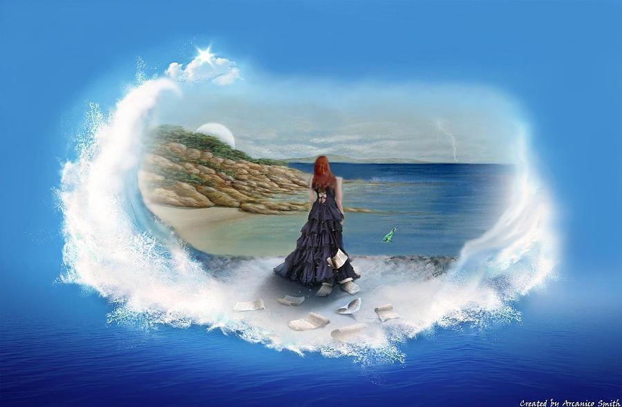 Sea Digital Art - Message From The Sea by Arcanico Luca Smith Acquaviva