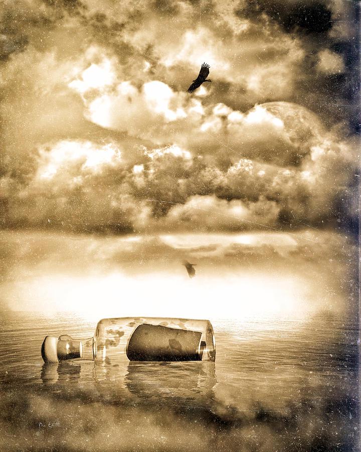 Seascape Photograph - Message In A Bottle by Bob Orsillo