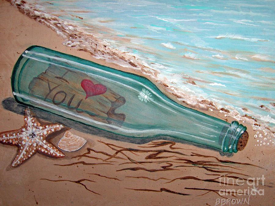 Открытки послание в бутылке, надписями тебя видел