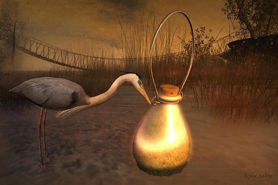 Swamp Digital Art - Message In A Bottle by Kylie Sabra