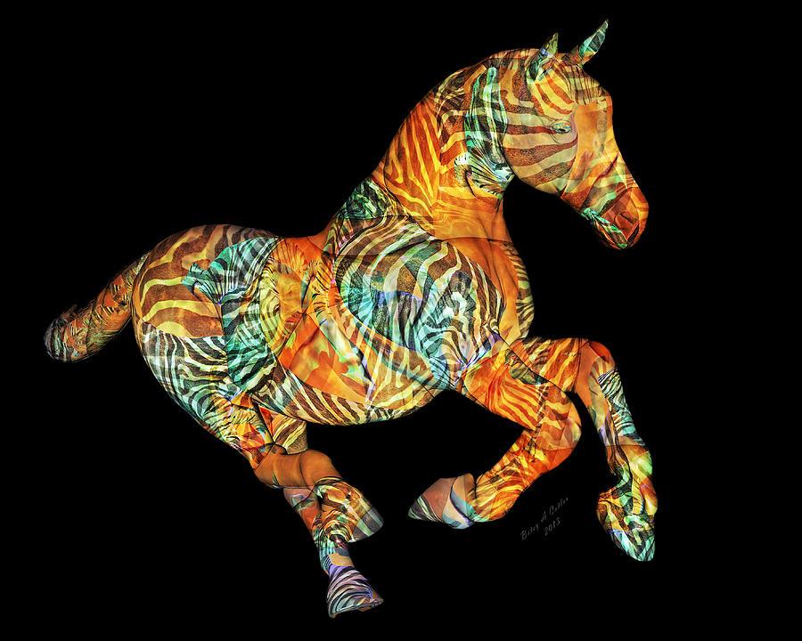 Horse Mixed Media - Messenger by Betsy Knapp