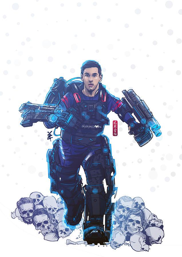Messi Digital Art - Messiah  by Akyanyme