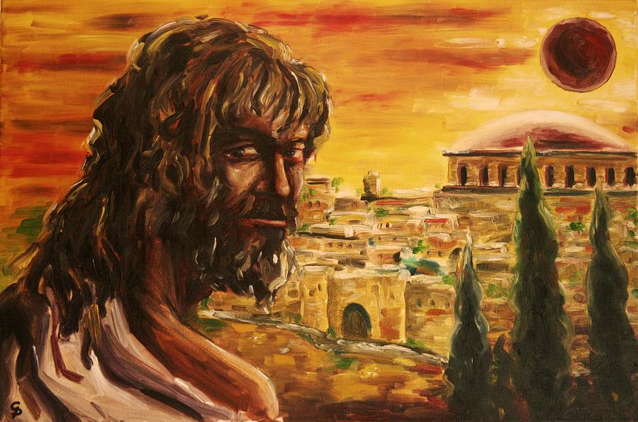 Portrait Painting - Messiah In Jerusalem by George Dadiani