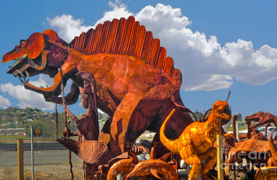 Dinosuar Painting - Metal Dinosaurs - 01 by Gregory Dyer
