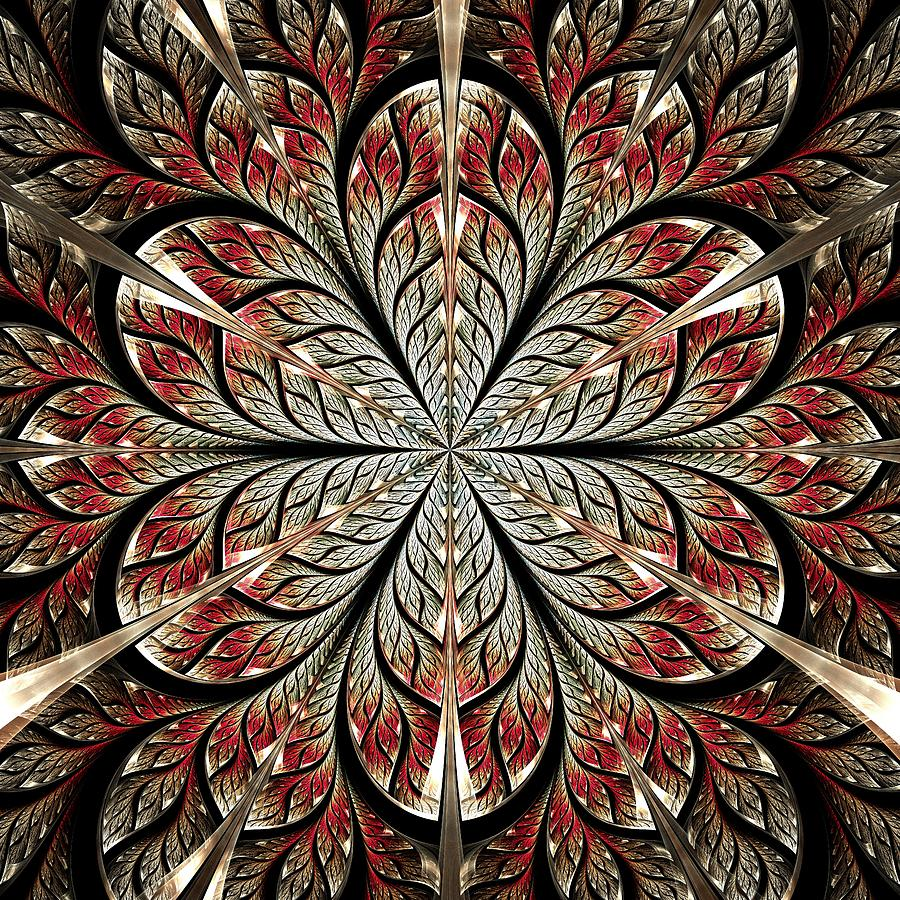 Computer Digital Art - Metal Flower by Anastasiya Malakhova