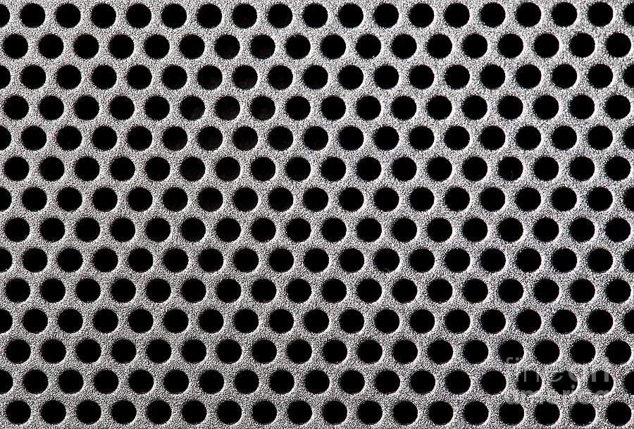Abstract Photograph - Metal Grill Dot Pattern by Simon Bratt Photography LRPS