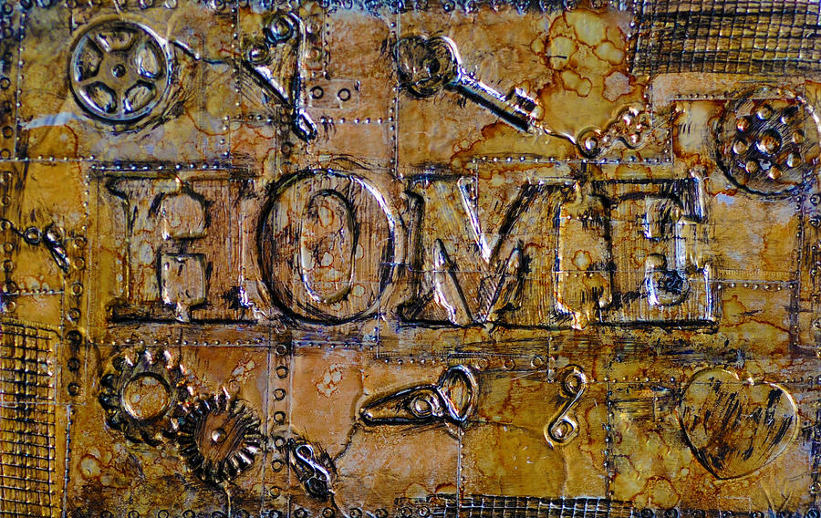 Mixed Media Mixed Media - Metal Home by Kenneth Feliciano
