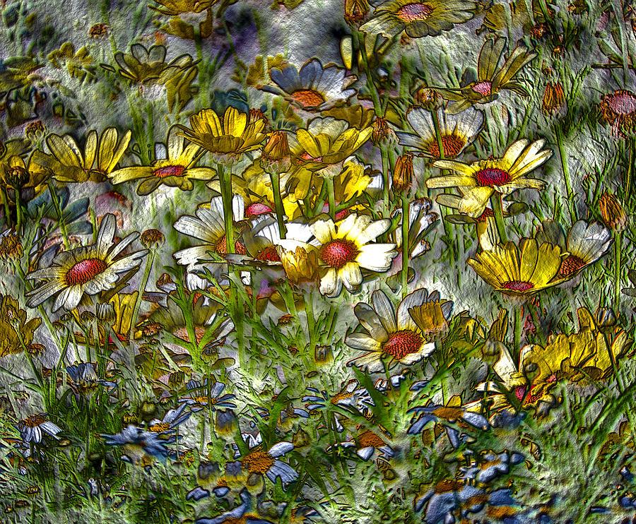 Metal Sunflowers Photograph by James Steele