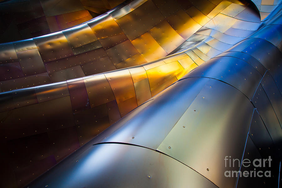 Seattle Photograph - Metal Waves by Inge Johnsson