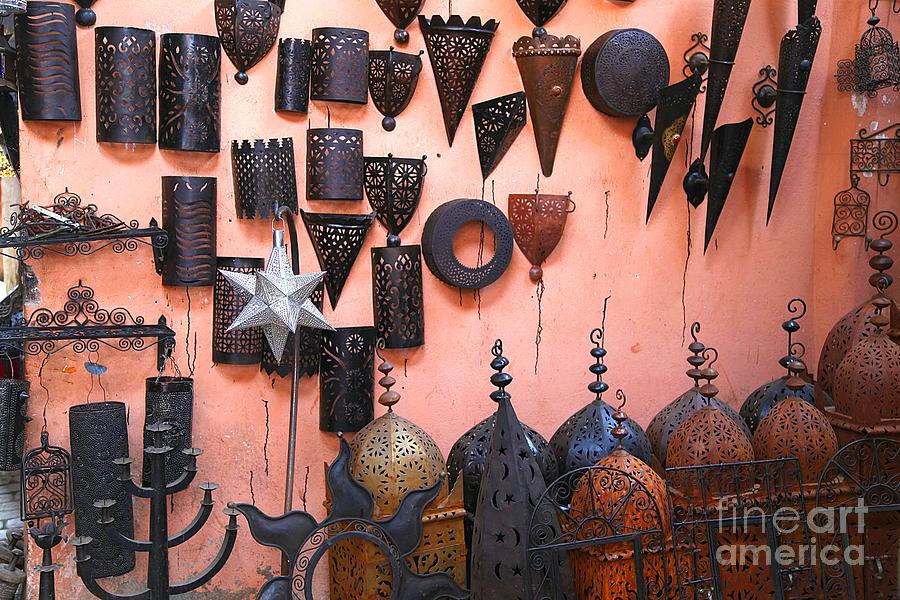 Metal Photograph - Metal Work Marrakesh by Sophie Vigneault