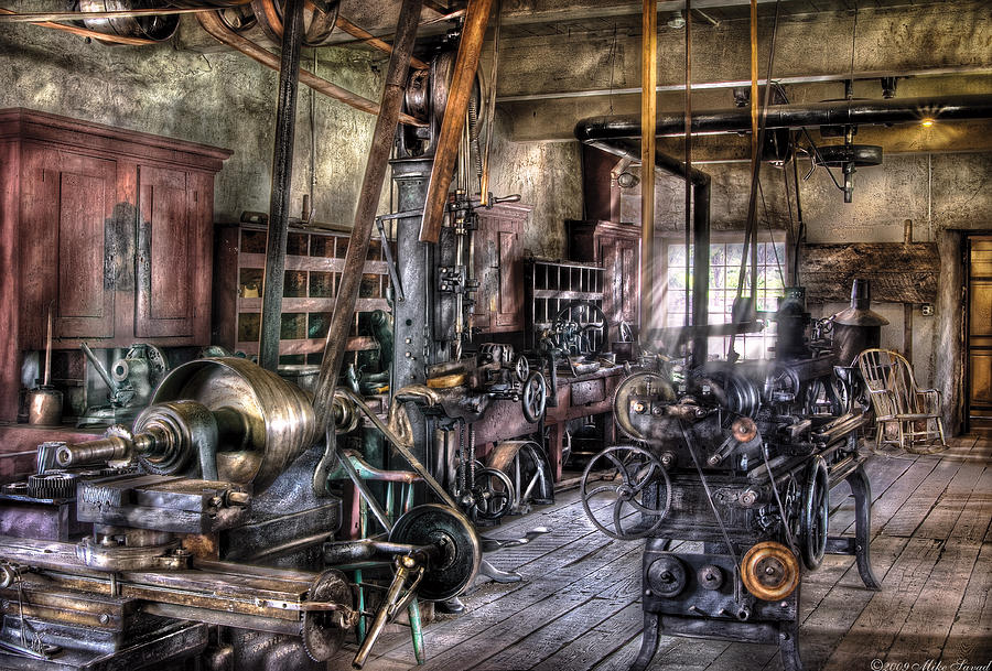 Savad Photograph - Metal Worker - Belts And Pullies by Mike Savad