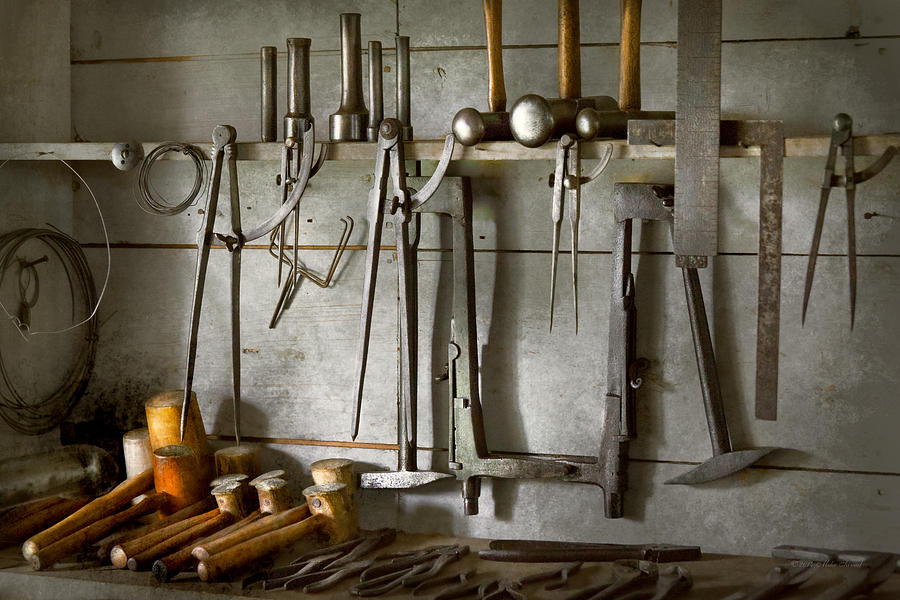 Metal Worker Tools Of A Tin Smith Photograph By Mike Savad