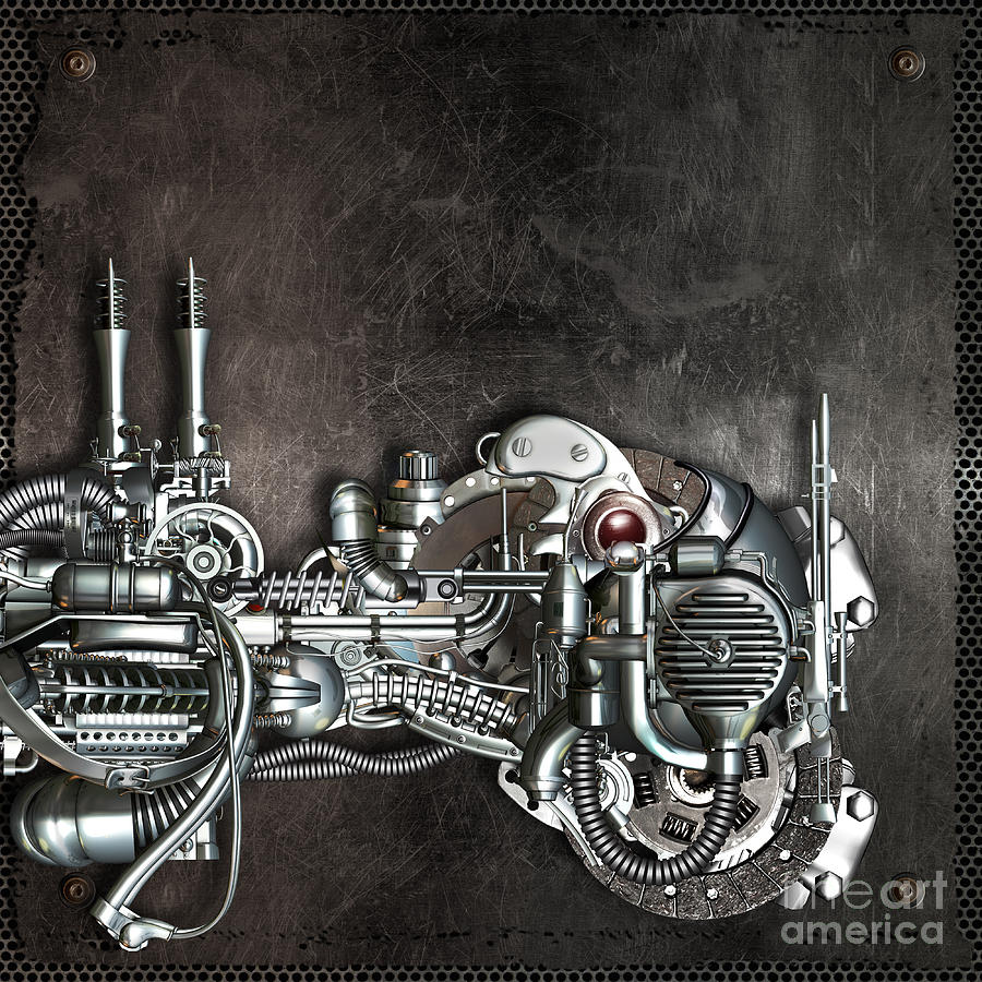 Mechanism Mixed Media - Danger From Above by Diuno Ashlee