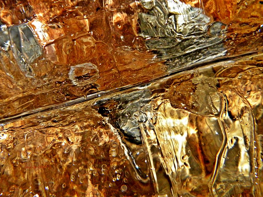 Ice Photograph - Metallic Ice by Chris Berry