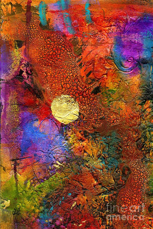 Metallic Sunset Painting
