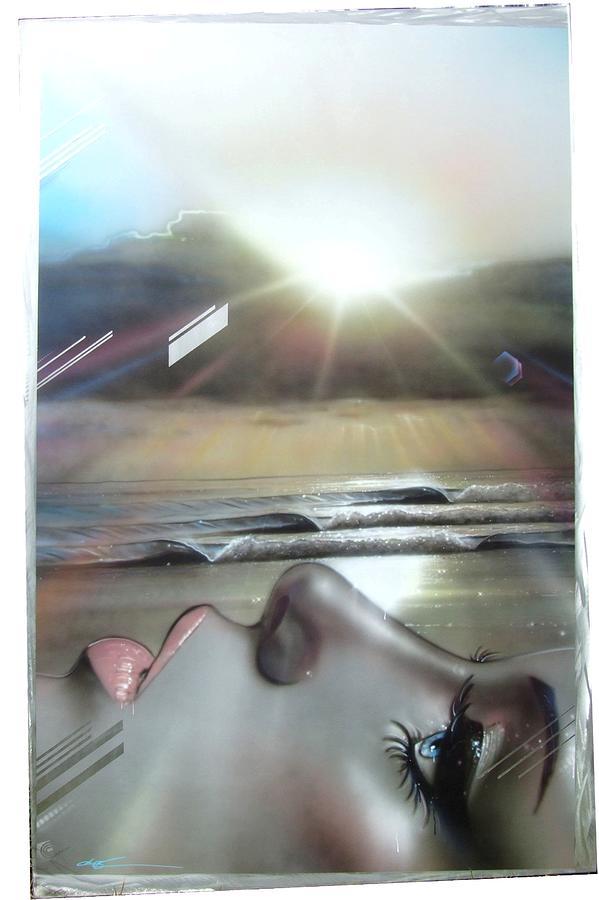 Ocean Painting - Metallic Visions by Christian Chapman Art