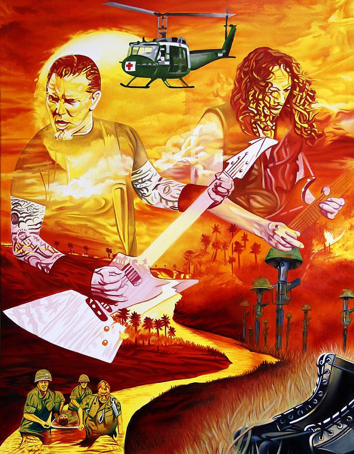 Metallica Painting - Metallica-one by Joshua Morton