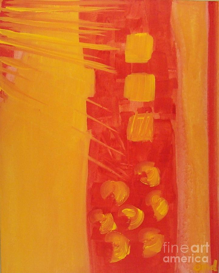 Yellow Painting - Transition   by Olivia Dickerson