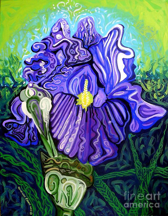 Metaphysicaliris Painting - Metaphysical Iris by Genevieve Esson