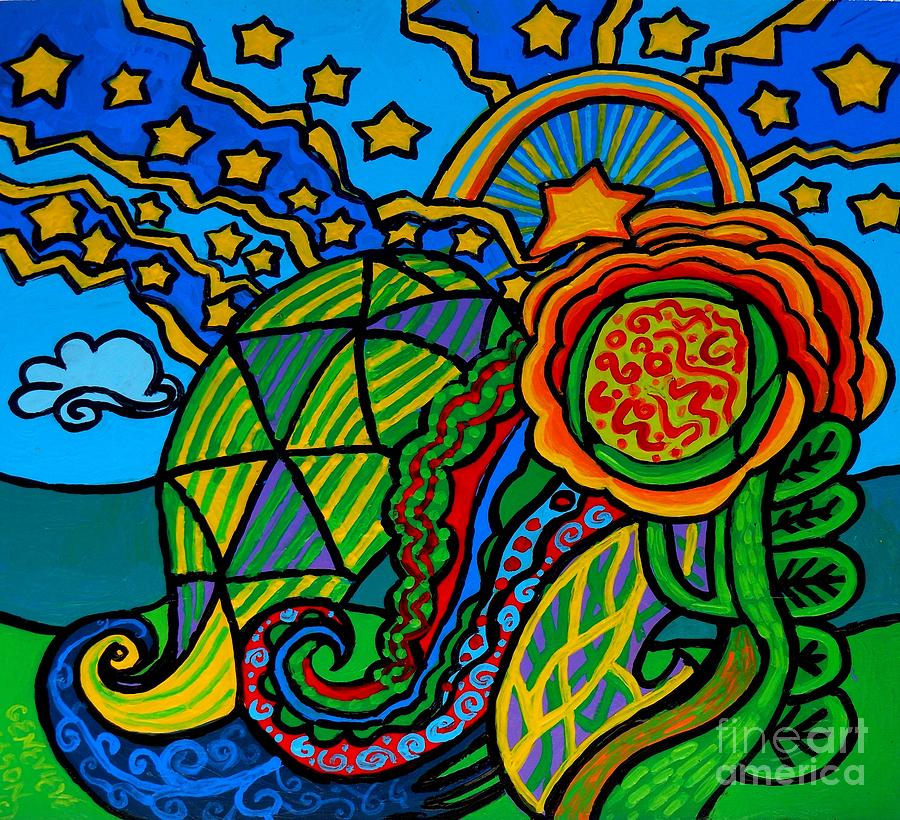 Metaphysical Painting - Metaphysical Starpalooza by Genevieve Esson