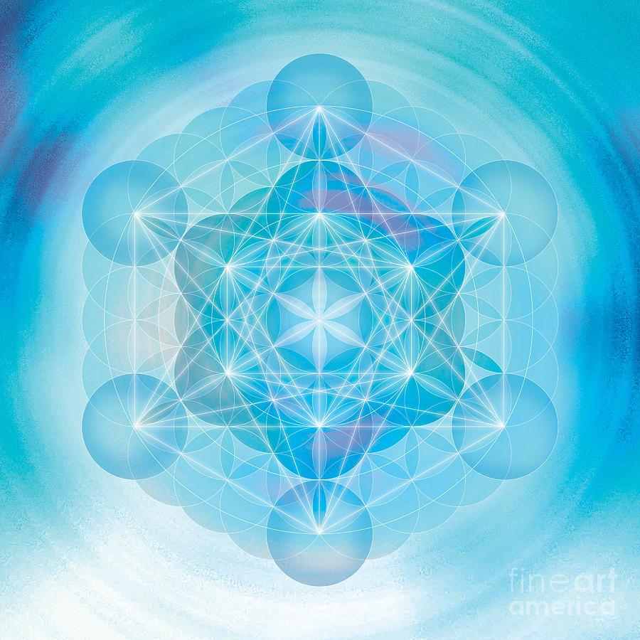 Mandala Digital Art - Metatron Mandala by Soulscapes - Healing Art