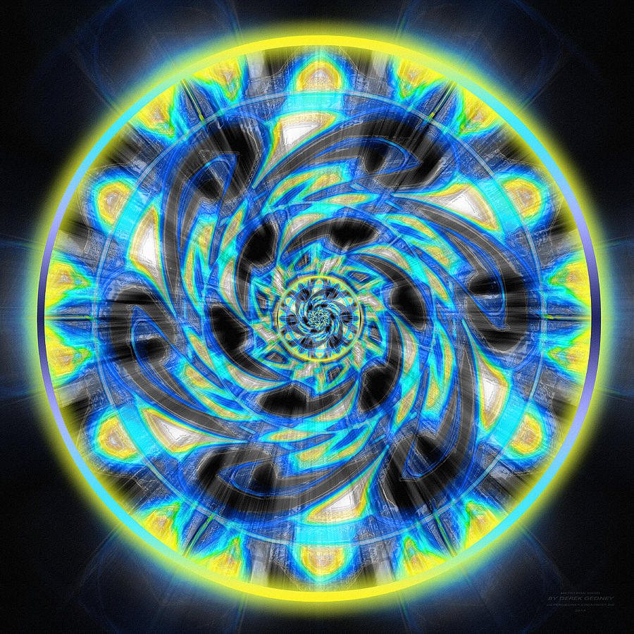 Drawing - Metatron Swirl by Derek Gedney