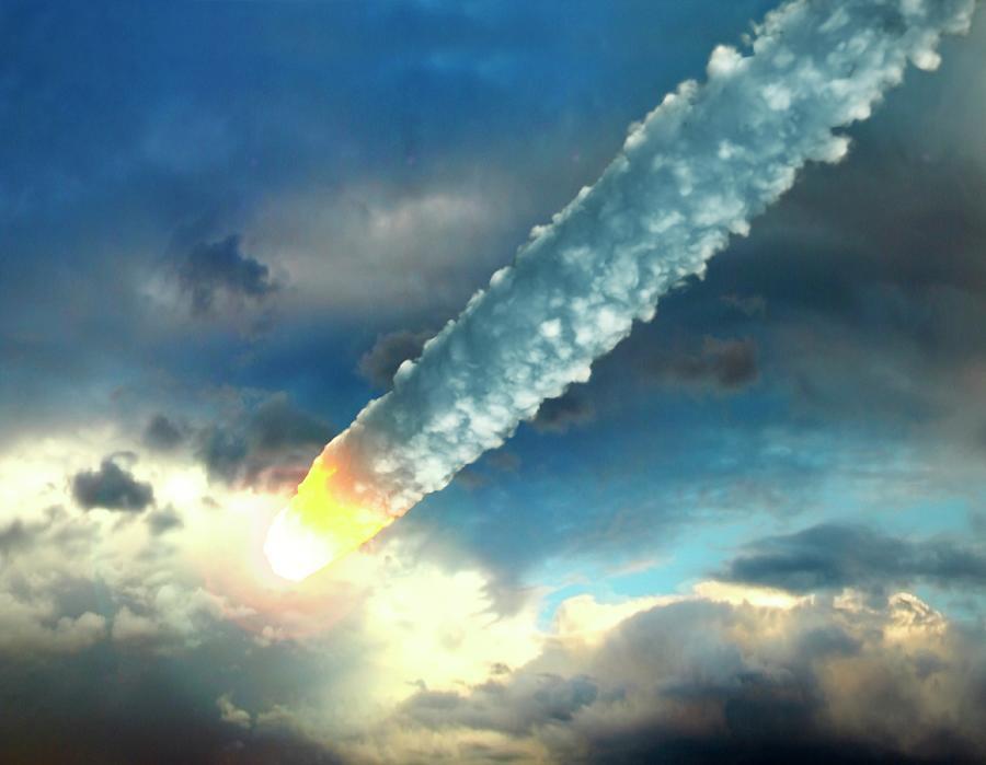 Meteor In The Earths Atmosphere, Artwork Digital Art by Roger Harris