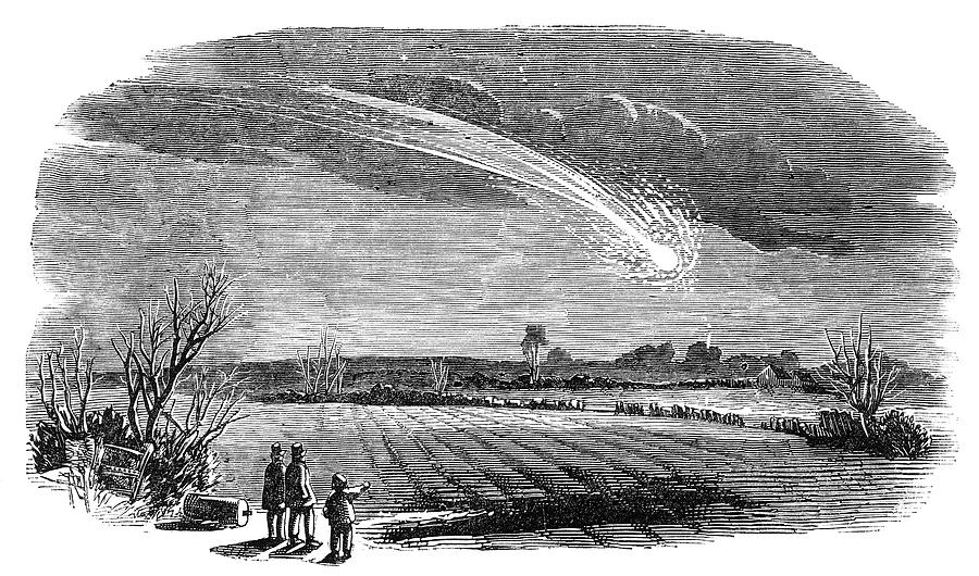 Meteor Photograph - Meteor Observation by Royal Astronomical Society/science Photo Library