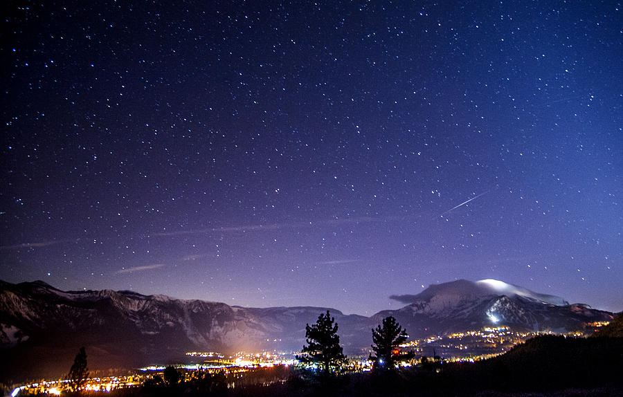 Night Photograph - Mammoth Mountain At Night by Cat Connor