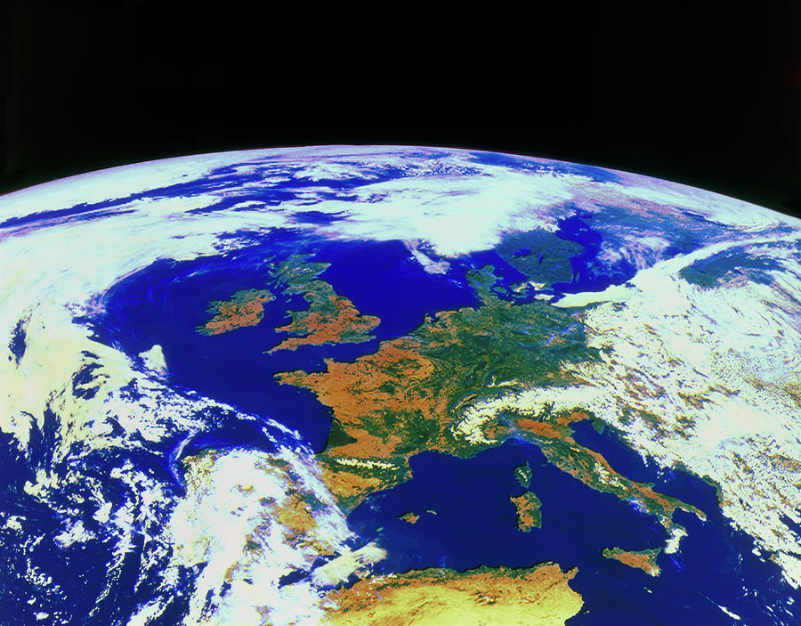 Europe Photograph - Meteosat Image Of Europe by Esa/kevin A Horgan/science Photo Library