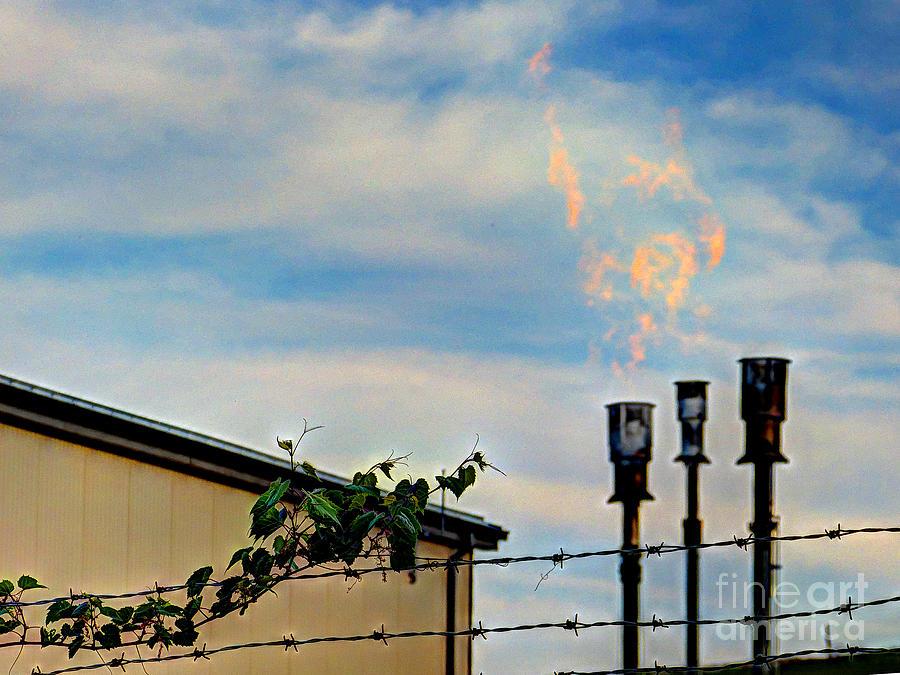 Mj Olsen Photograph - Methane Flares by MJ Olsen
