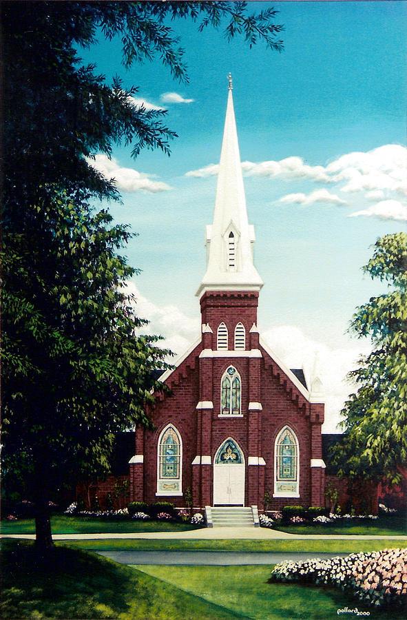 Methodist Painting - Methodist Church by Glenn Pollard