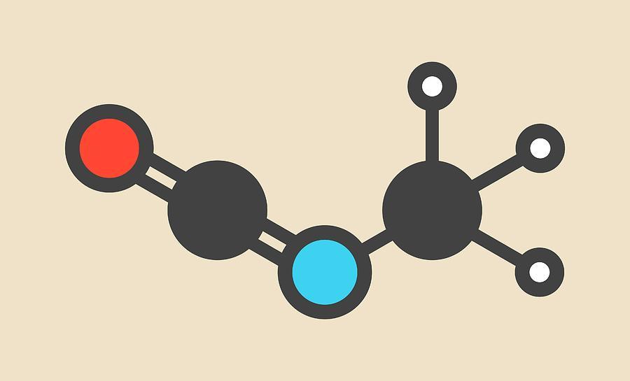 Methyl Photograph - Methyl Isocyanate Toxic Molecule by Molekuul
