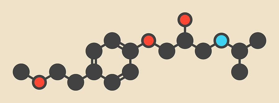 Metoprolol Photograph - Metoprolol High Pressure Drug Molecule by Molekuul