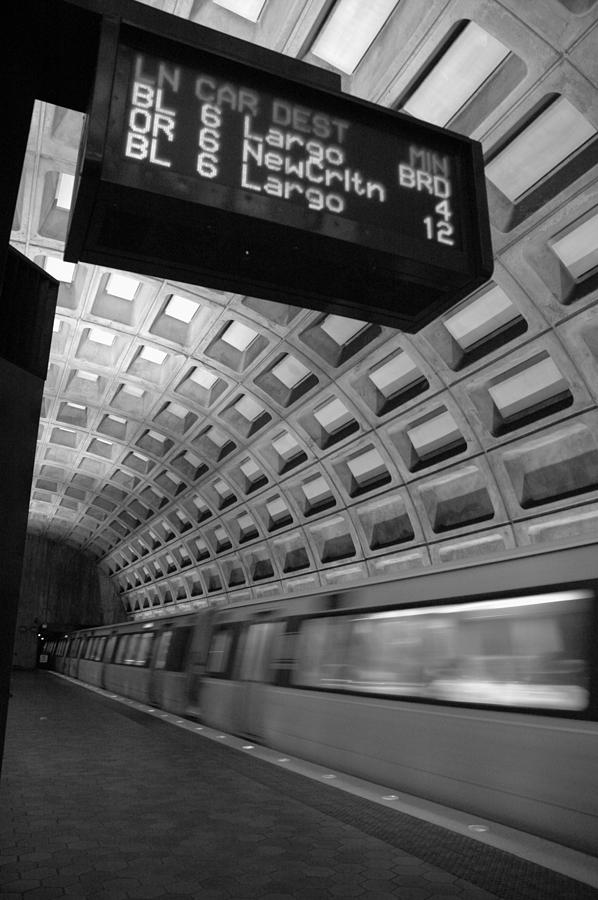 Washington D.c. Photograph - Metro Blur by Bryan Knowles