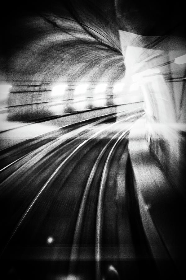 Tunnel Photograph - Metro Lights by Mauro Bricchetti