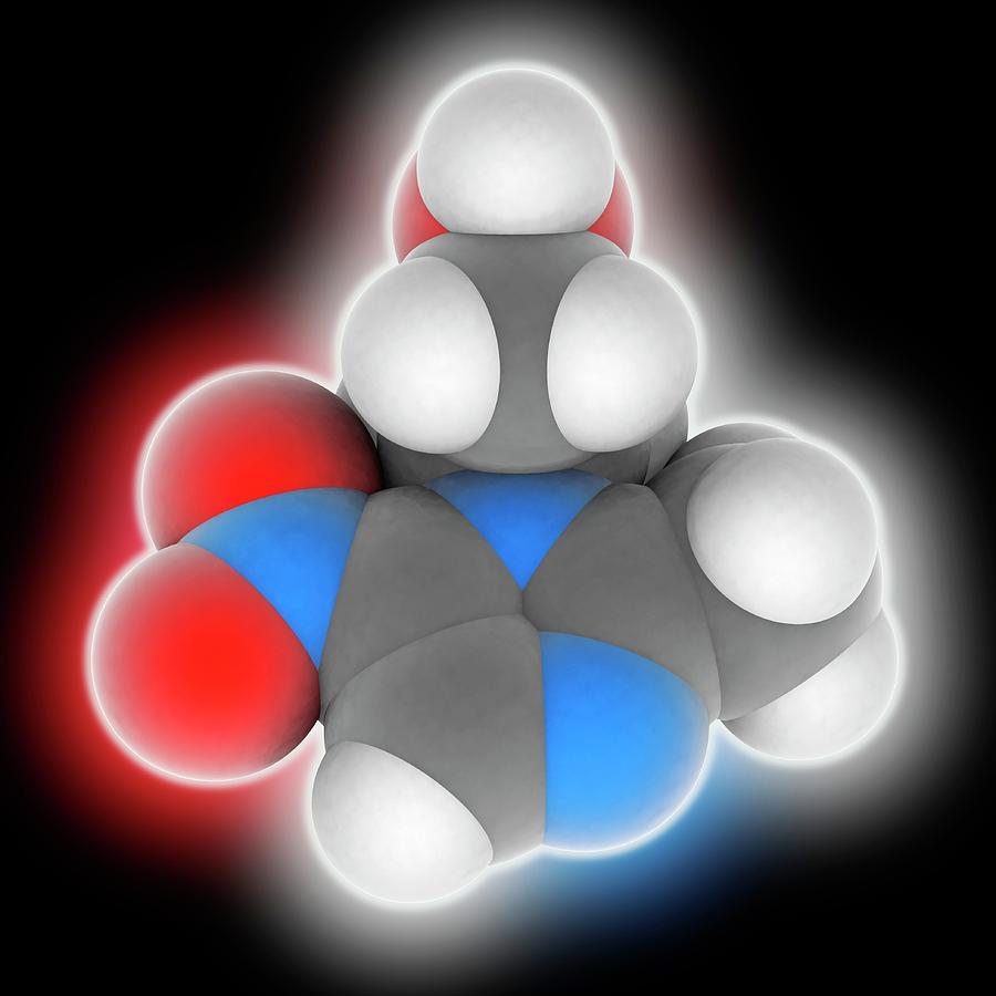 Antibacterial Photograph - Metronidazole Drug Molecule by Laguna Design
