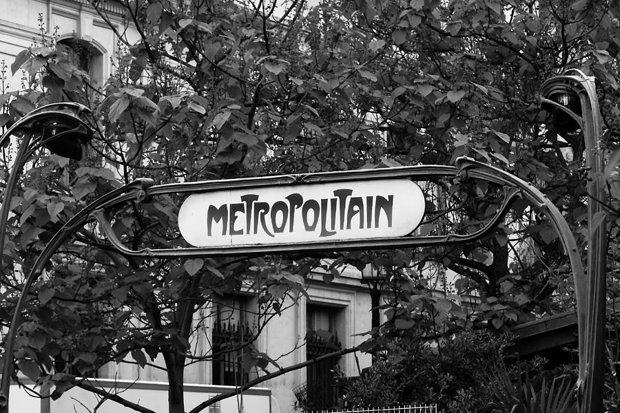 Metro Photograph - Metropolitain - Bw by Carrie Warlaumont