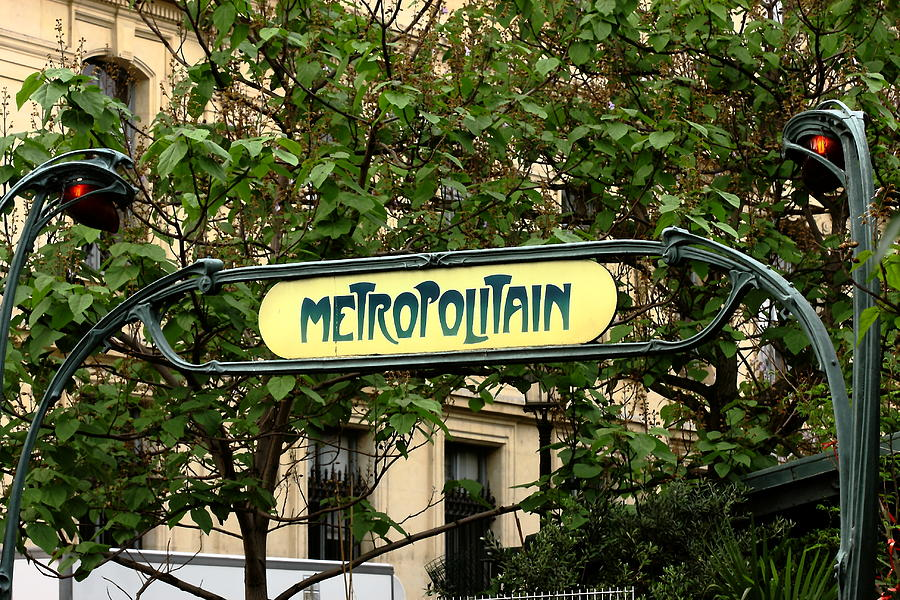 Metro Photograph - Metropolitain by Carrie Warlaumont