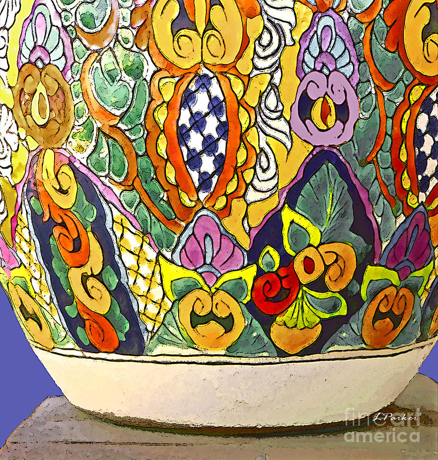 Mexico Photograph - Mexican Ceramic Pottery by Linda  Parker