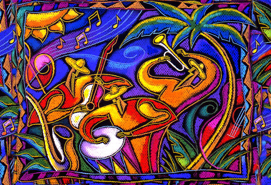 Latin Music Painting By Leon Zernitsky