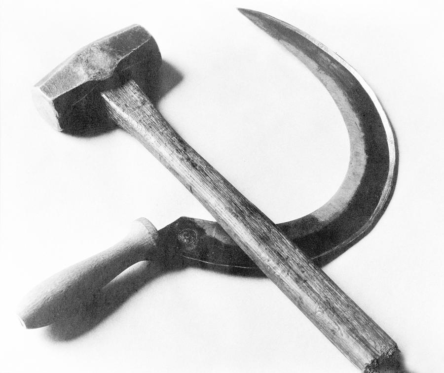 Mexican Photograph - Mexican Revolution Hammer And Sickle by Tina Modotti
